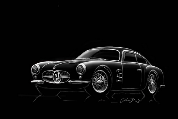 Maserati A6G Berlinetta Zagato illustration